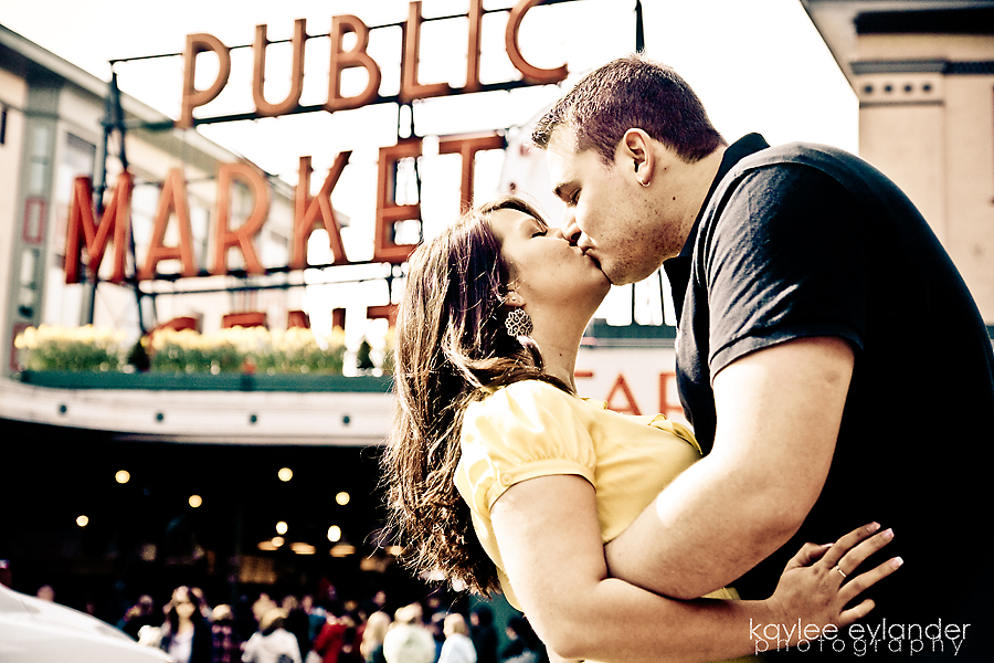Vance Kara 2 copy Seattle Wedding Photographer |  Engagement Session at Pike Place & The Pier with Kara & Vance