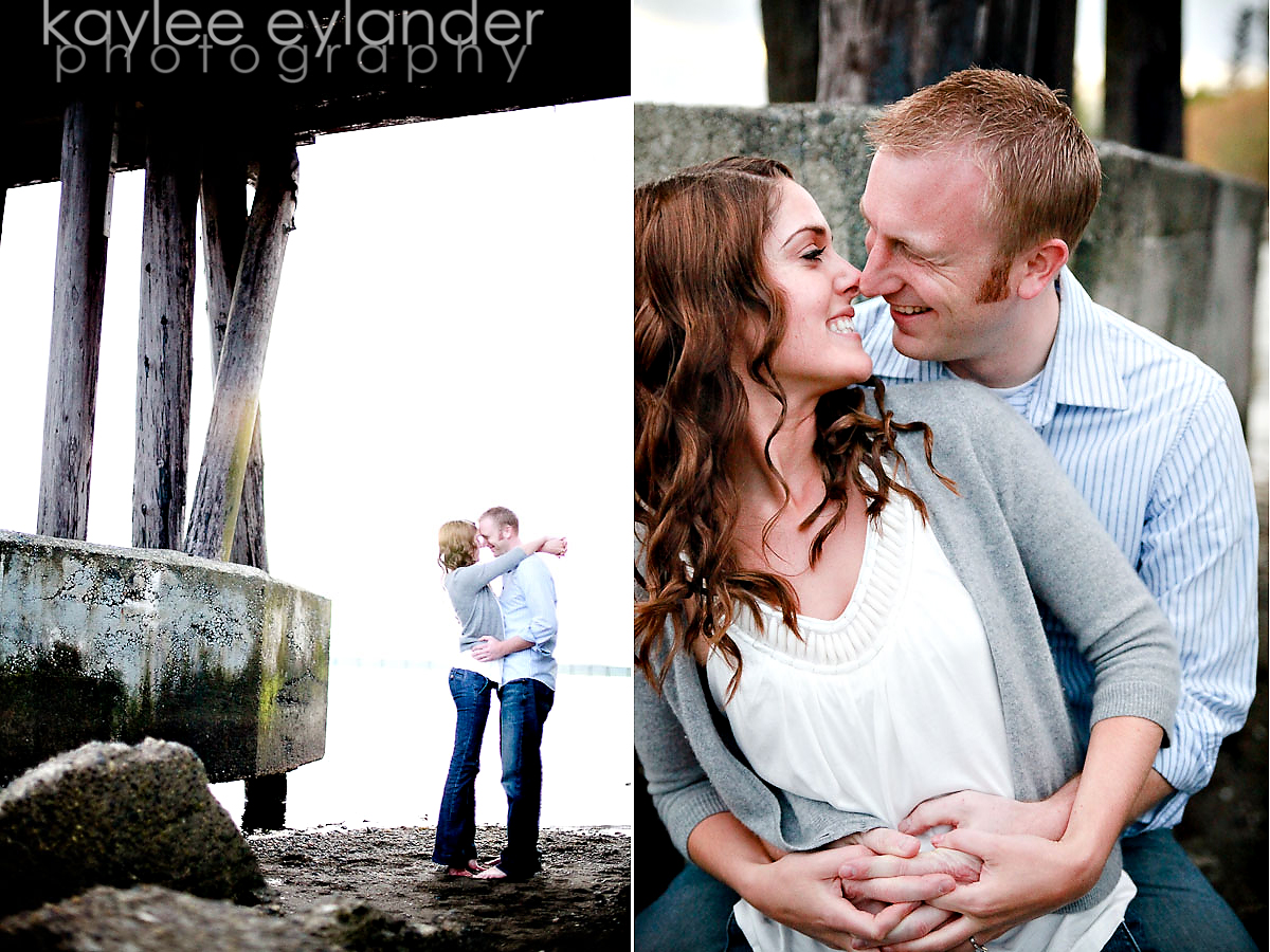 AMY DANA 17 Bellingham Wedding Photographer | Amy & Dana K.I.S.S.ing in the tree | Kaylee Eylander