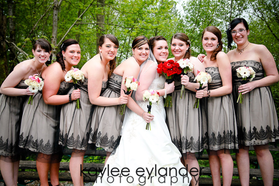 Wedding Party 13 Snohomish Wedding Photographer | Cute Dresses and Bow ties for the guys!