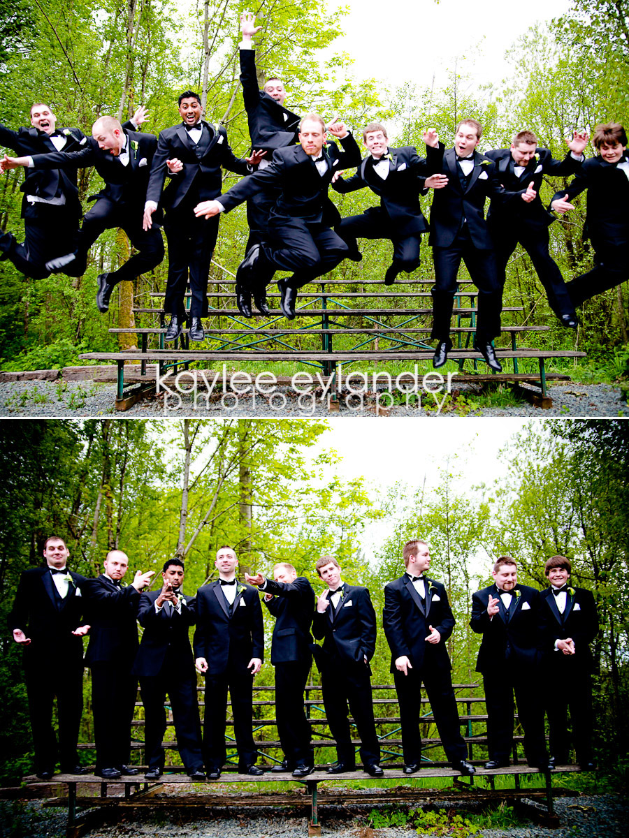Wedding Party 23 Snohomish Wedding Photographer | Cute Dresses and Bow ties for the guys!
