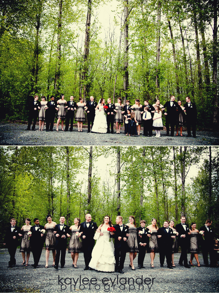 Wedding Party 28 Snohomish Wedding Photographer | Cute Dresses and Bow ties for the guys!