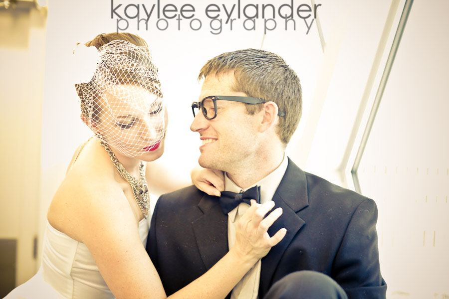 heather Kyle 22 Birdcage Veil + Bow Tie + Seattle Public Library = Happy Times!