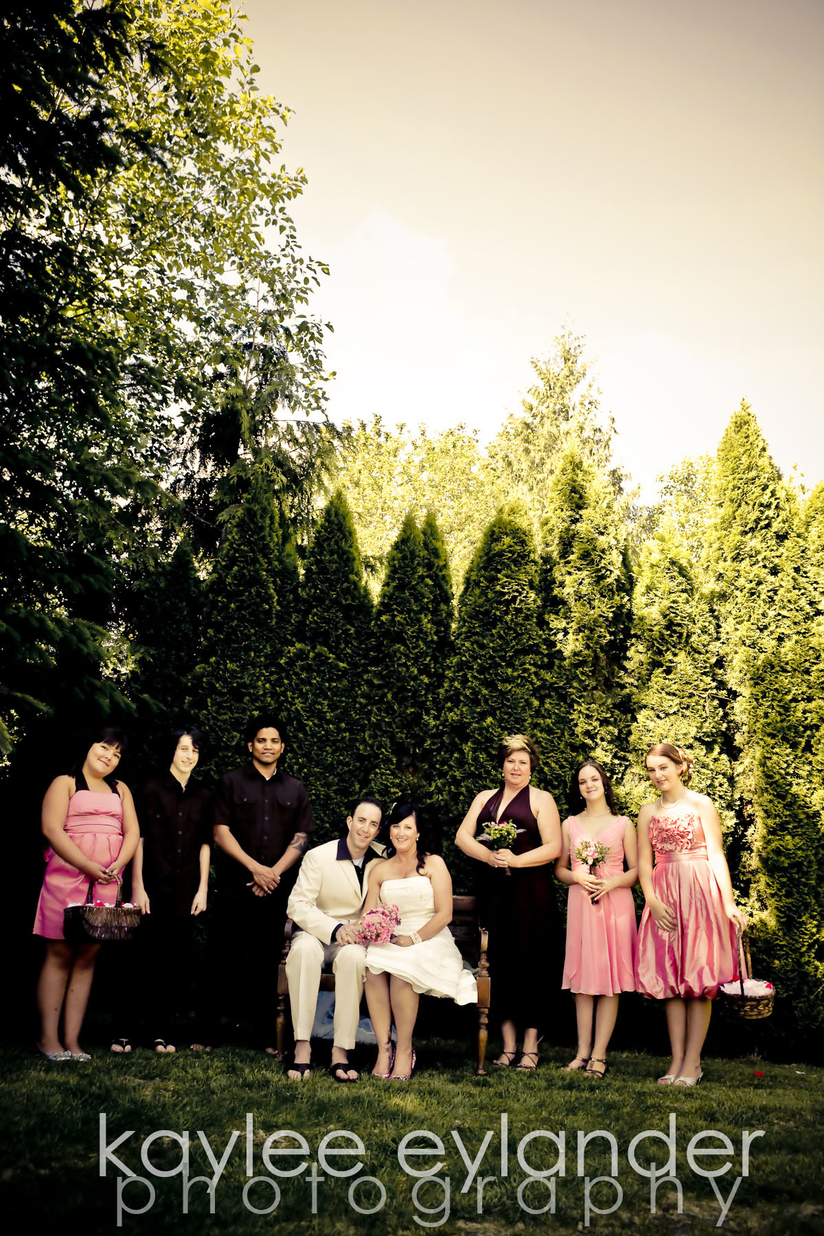 Wedding party 1 DIY Modern Vintage Wedding....gotta love it! | Kaylee Eylander Photography