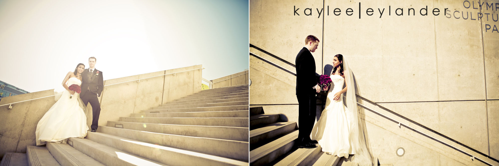 0103 Seattle World Trade Center Wedding | Red Roses and Sunshine!  | Seattle Wedding Photographers