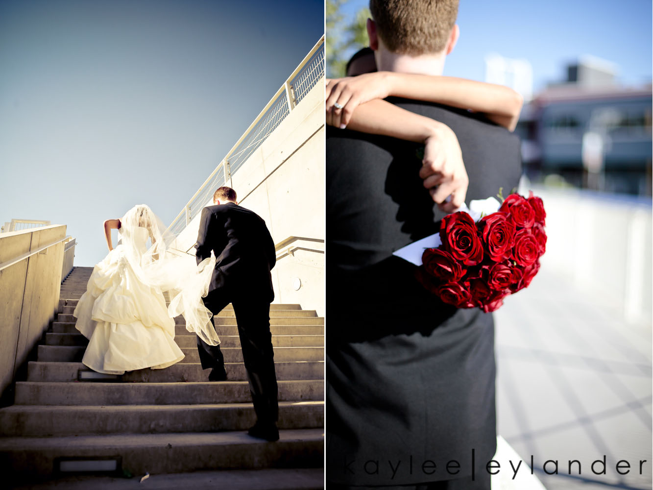 0105 Seattle World Trade Center Wedding | Red Roses and Sunshine!  | Seattle Wedding Photographers
