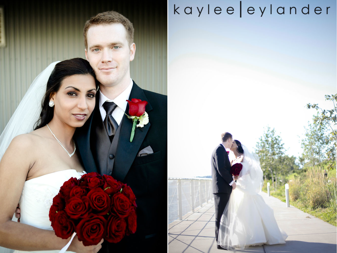 0111 Seattle World Trade Center Wedding | Red Roses and Sunshine!  | Seattle Wedding Photographers