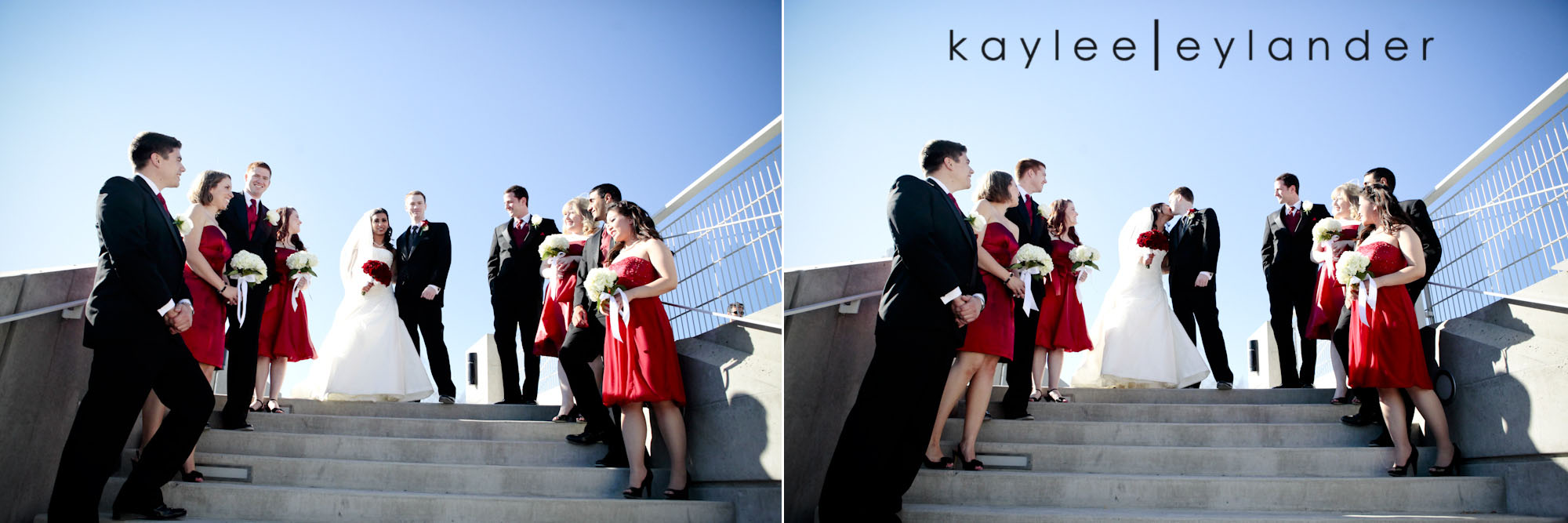 0304 Seattle World Trade Center Wedding | Red Roses and Sunshine!  | Seattle Wedding Photographers
