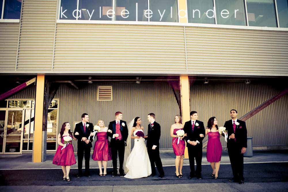 0306 Seattle World Trade Center Wedding | Red Roses and Sunshine!  | Seattle Wedding Photographers