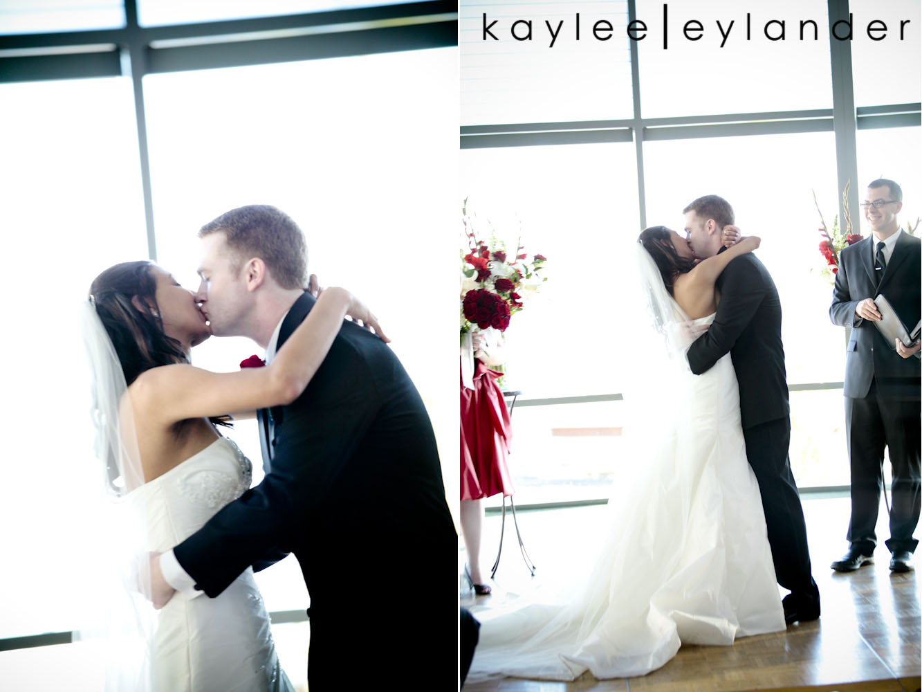 0509 Seattle World Trade Center Wedding | Red Roses and Sunshine!  | Seattle Wedding Photographers