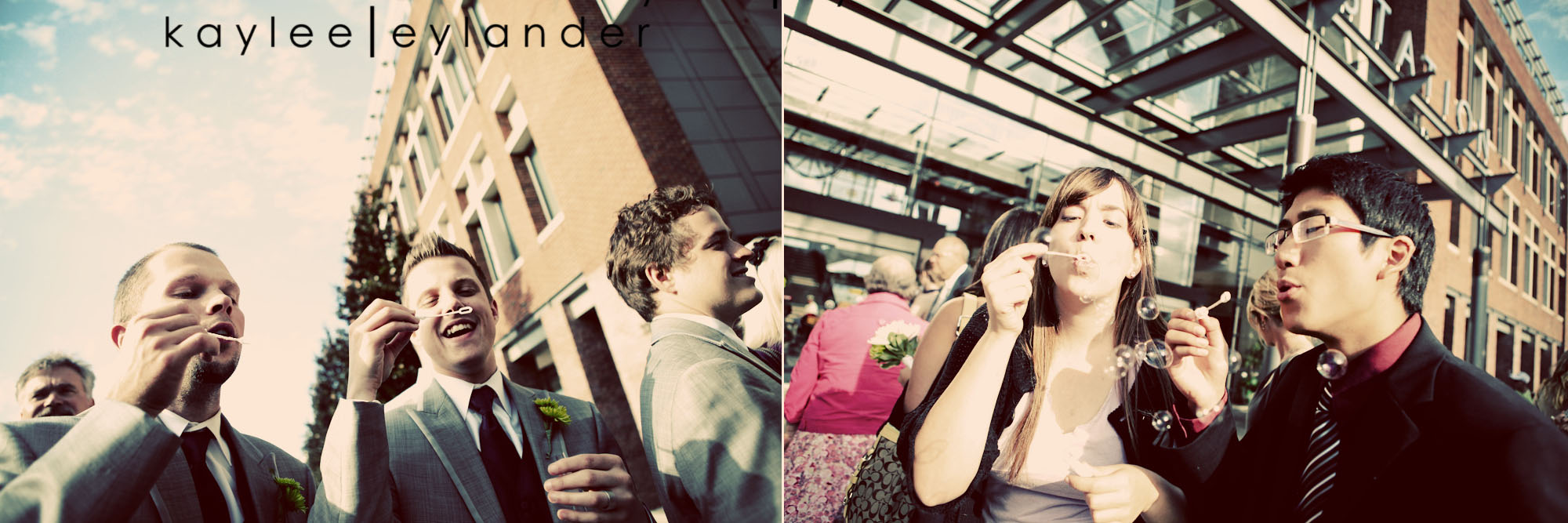 0636 Everett Train Station Wedding | Grey Tuxes & Green Flowers! | Seattle Wedding Photographers