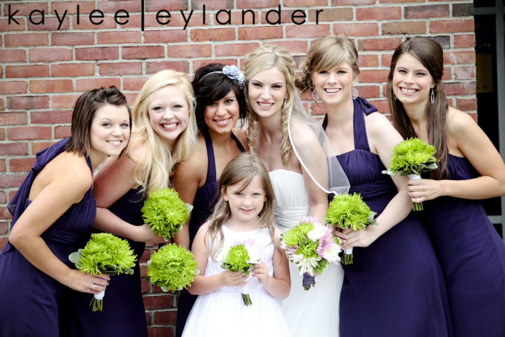 wedding party seattle photographer0197 Everett Train Station Wedding | Grey Tuxes & Green Flowers! | Seattle Wedding Photographers