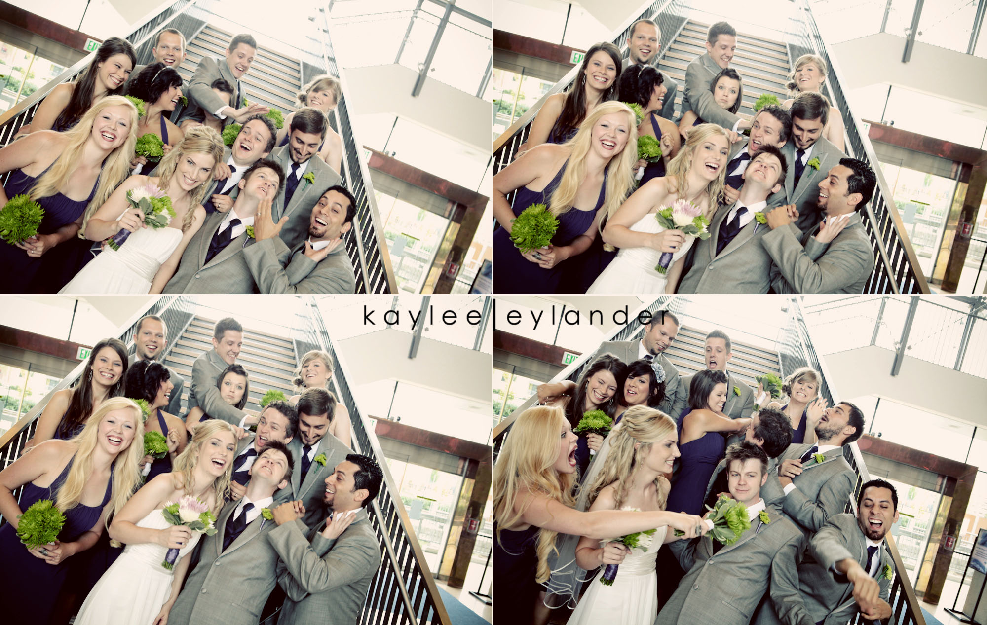 wedding party seattle photographer0200 Everett Train Station Wedding | Grey Tuxes & Green Flowers! | Seattle Wedding Photographers