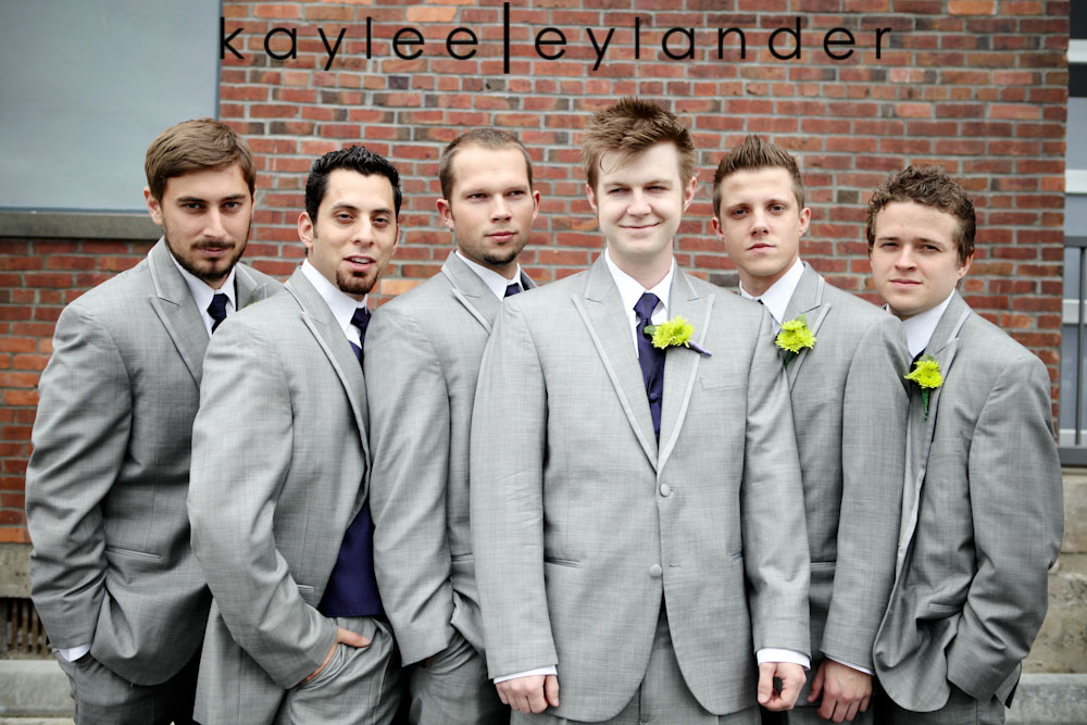 wedding party seattle photographer0206 Everett Train Station Wedding | Grey Tuxes & Green Flowers! | Seattle Wedding Photographers