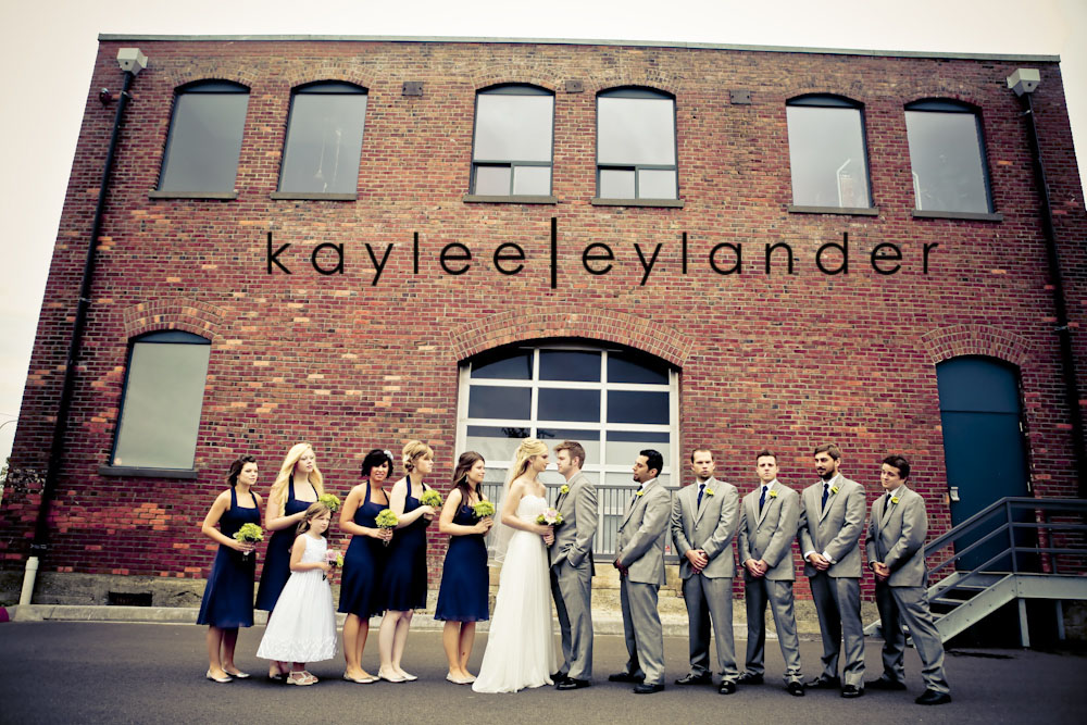 wedding party seattle photographer0209 Everett Train Station Wedding | Grey Tuxes & Green Flowers! | Seattle Wedding Photographers