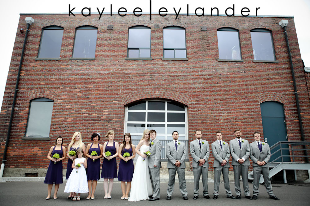 wedding party seattle photographer0210 Everett Train Station Wedding | Grey Tuxes & Green Flowers! | Seattle Wedding Photographers