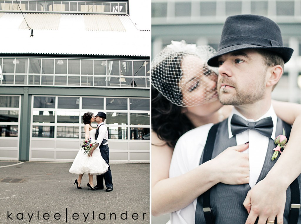 Bellingham Vintage Wedding 24 1024x763 50s Vintage & Birdcage Veil | Modern Bellingham Wedding Photography