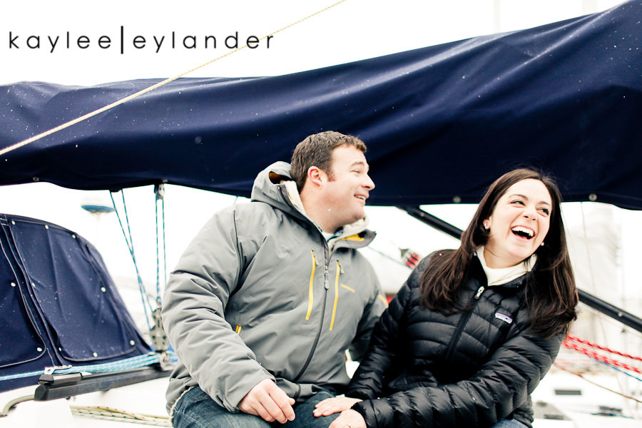 Bellingham Engagement Marina 45 Bellingham Engagement Session | Snow, Boats and Summer Camp