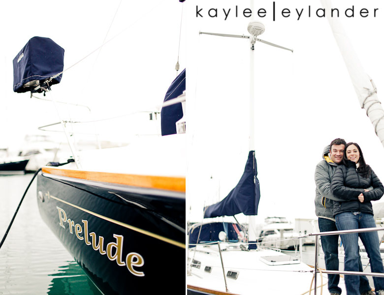 Bellingham Engagement Marina 50 Bellingham Engagement Session | Snow, Boats and Summer Camp