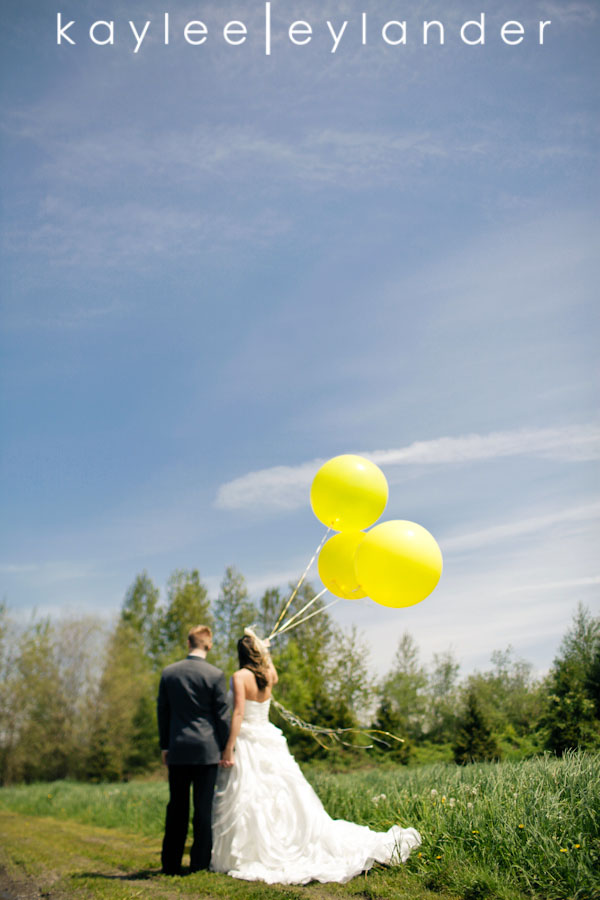 Yellow balloon wedding 41 Yellow Balloons & Sparkly Dress in a Green Field | Summer Wedding Inspiration