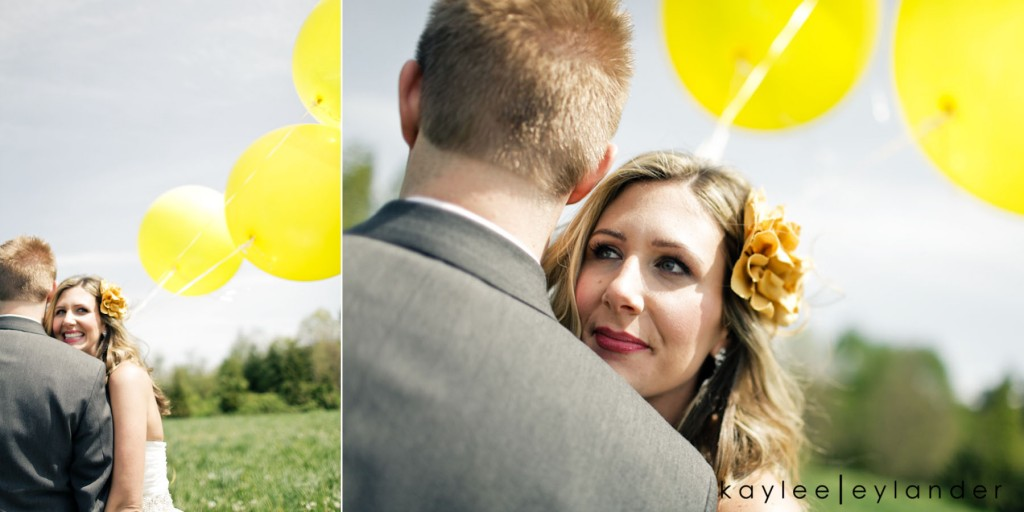 Yellow balloon wedding 42 1024x512 Yellow Balloons & Sparkly Dress in a Green Field | Summer Wedding Inspiration