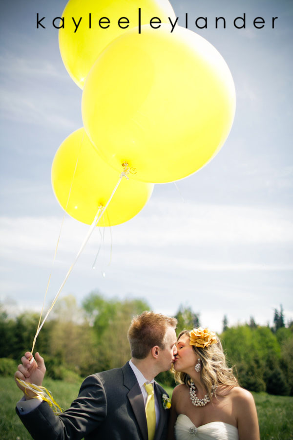 Yellow balloon wedding 45 Yellow Balloons & Sparkly Dress in a Green Field | Summer Wedding Inspiration