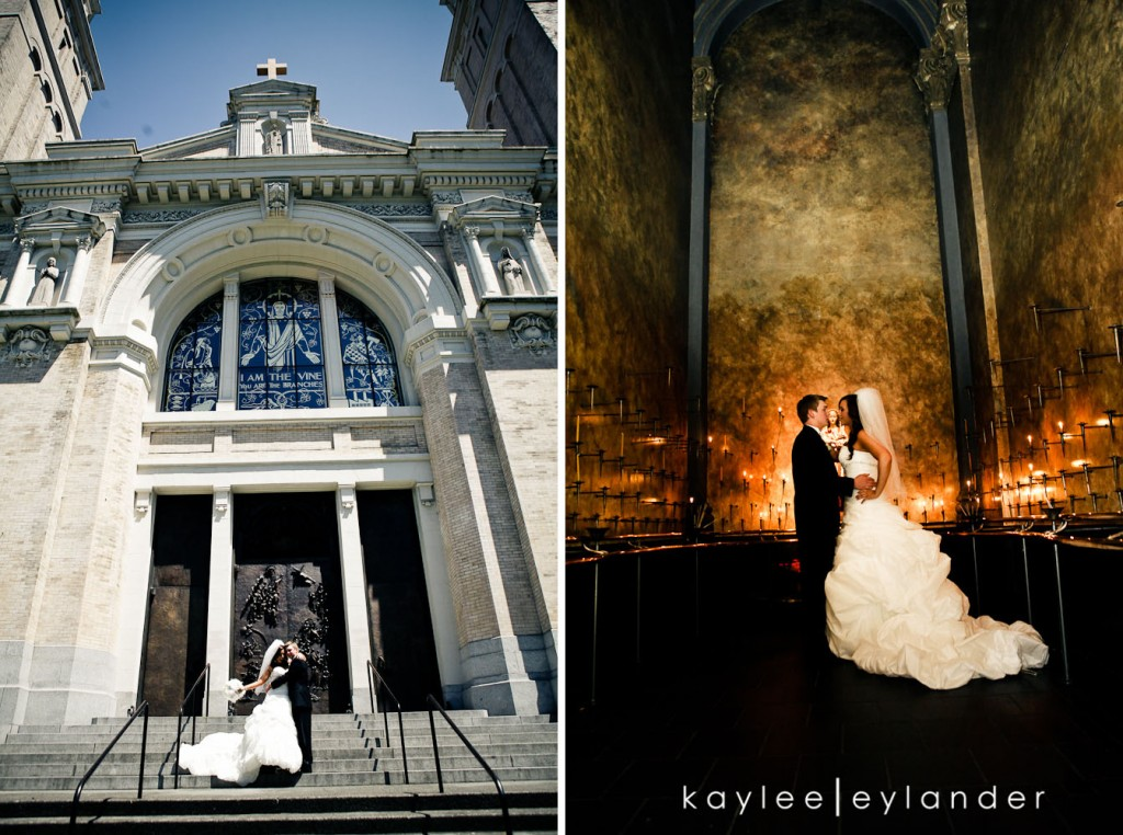 Glam Modern Wedding Seattle 21 1024x762 St. James Cathedral & Kensington Gardens Modern Glam Wedding