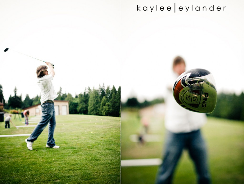 Snohomish Family Photographer 20 1024x773 Happy Fathers Day to my favorite Man!   1 Dad, 2 kids and a bucket of golfballs!