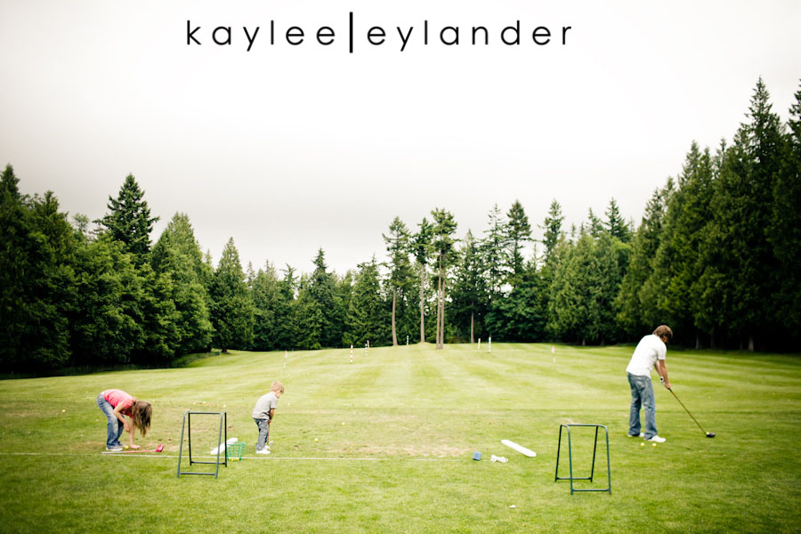 Snohomish Family Photographer 32 Happy Fathers Day to my favorite Man! | 1 Dad, 2 kids and a bucket of golfballs!