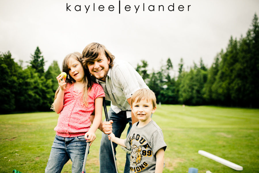Snohomish Family Photographer 38 Happy Fathers Day to my favorite Man! | 1 Dad, 2 kids and a bucket of golfballs!