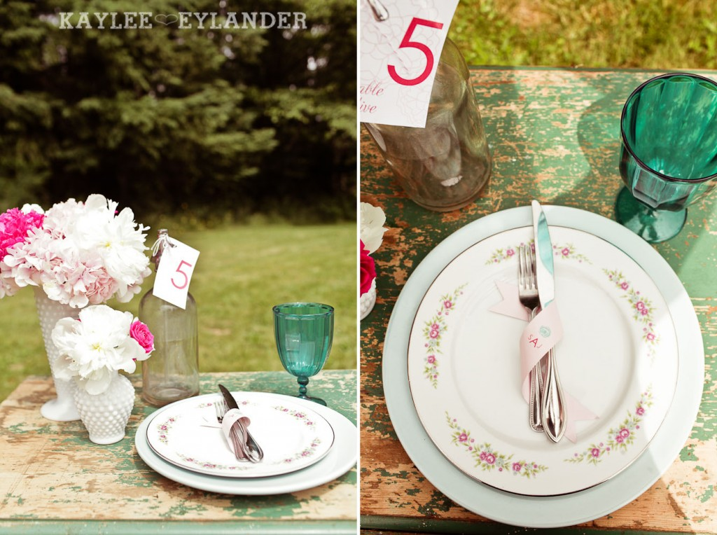 Turquoise and Pink Vintage Wedding 24 1024x764 Vintage Turquoise & Pink Wedding | Stylized Garden Wedding Shoot