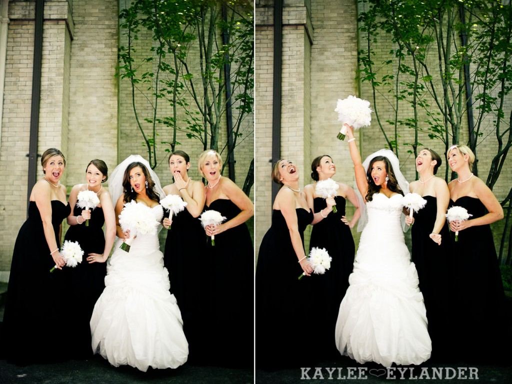 modern glam wedding party st. James cathedral 200 1024x769 St. James Cathedral Wedding & Kensington Garden Reception