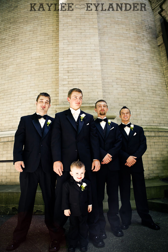 modern glam wedding party st. James cathedral 208 St. James Cathedral Wedding & Kensington Garden Reception