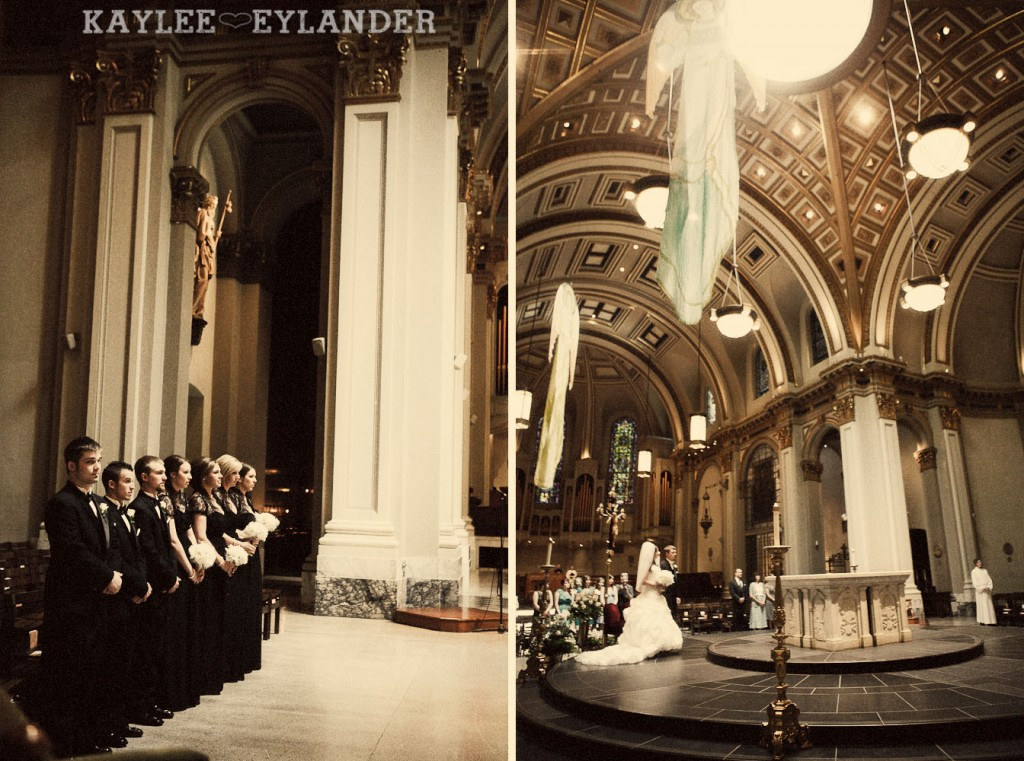 modern glam wedding st. James cathedral Ceremony 313 1024x761 St. James Cathedral Wedding & Kensington Garden Reception