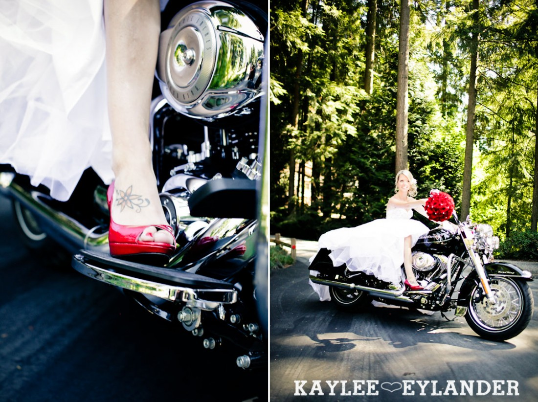 Echo Falls Wedding 12 1100x822 Motorcycles, Brides and Red Roses | Sneak Peak | Snohomish Wedding Photographers