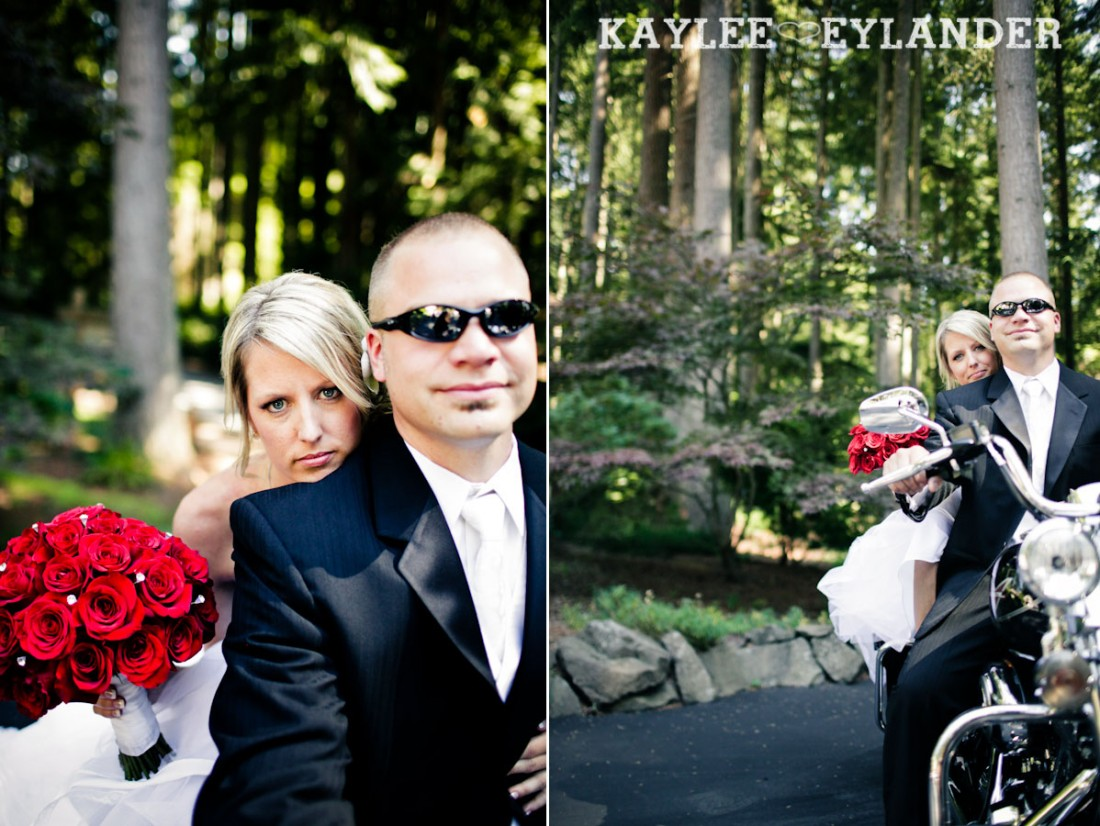 Echo Falls Wedding 15 1100x826 Motorcycles, Brides and Red Roses | Sneak Peak | Snohomish Wedding Photographers