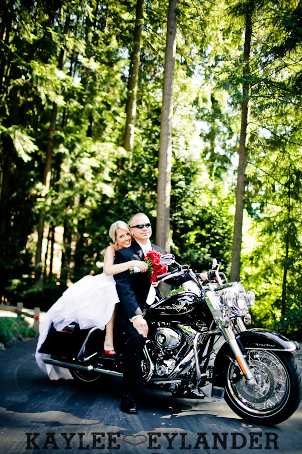 Echo Falls Wedding 17 Motorcycles, Brides and Red Roses | Sneak Peak | Snohomish Wedding Photographers