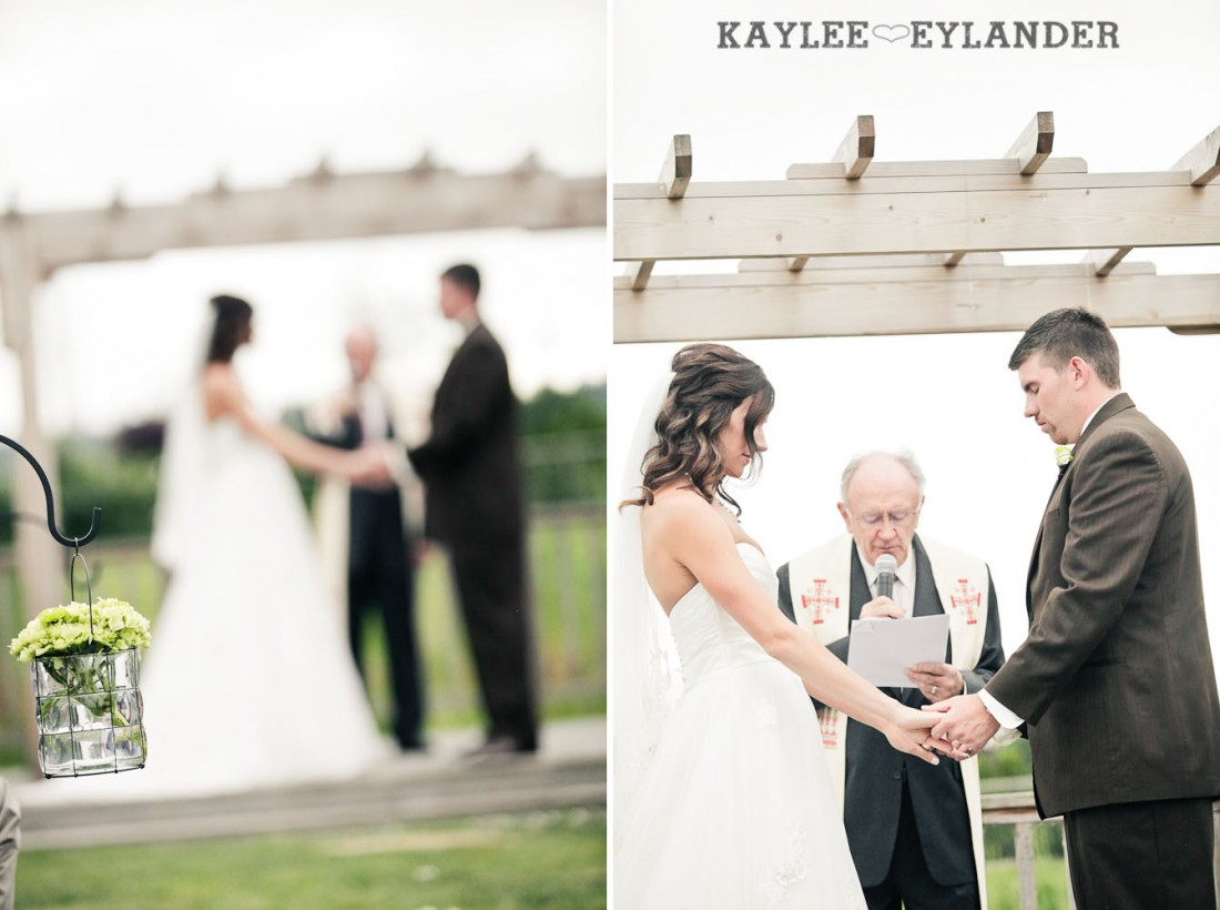 Swans Trail Farm Wedding Ceremony 23 1100x820 Swans Trail Farm Wedding | Pears, Raspberries and little white lights