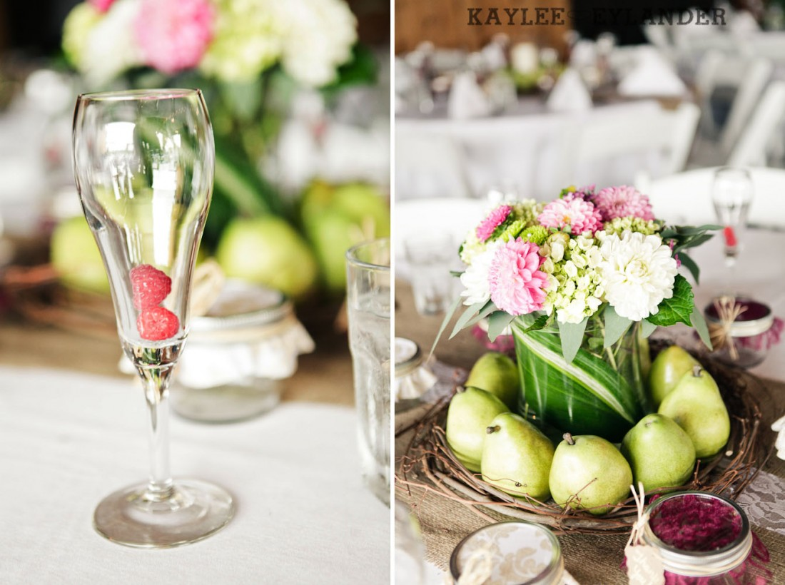 Swans Trail Farm Wedding Ceremony 9 1100x820 Swans Trail Farm Wedding | Pears, Raspberries and little white lights