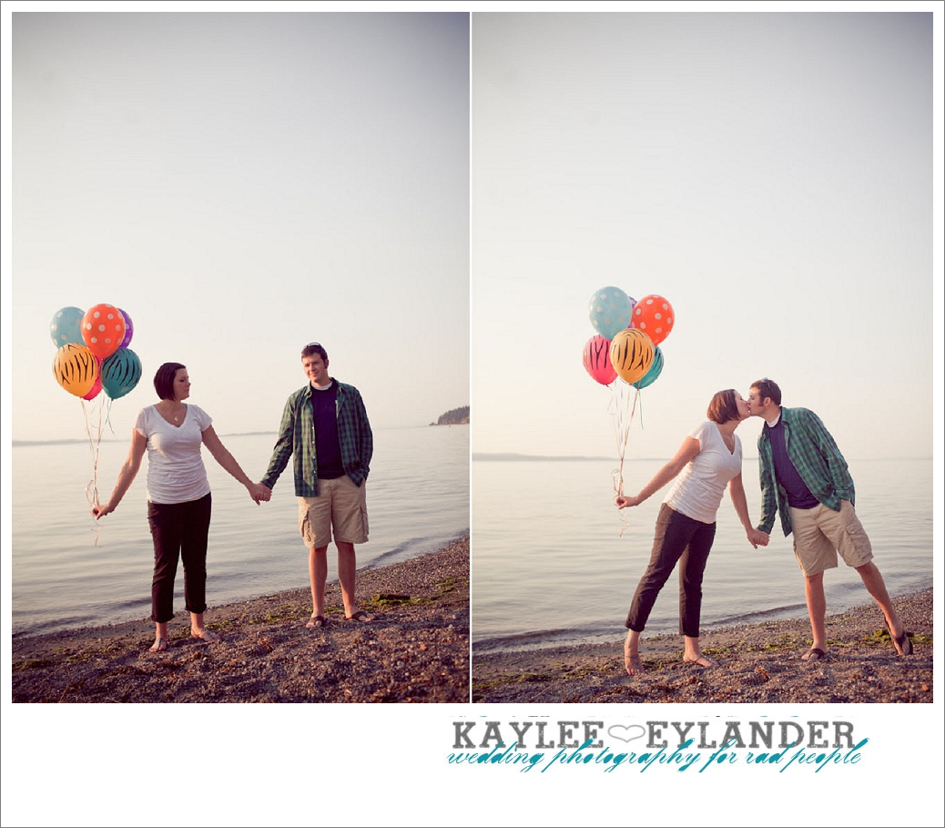 Beach Engagement Session 5 Beach & Balloon Engagement Session | Snohomish Wedding Photographer