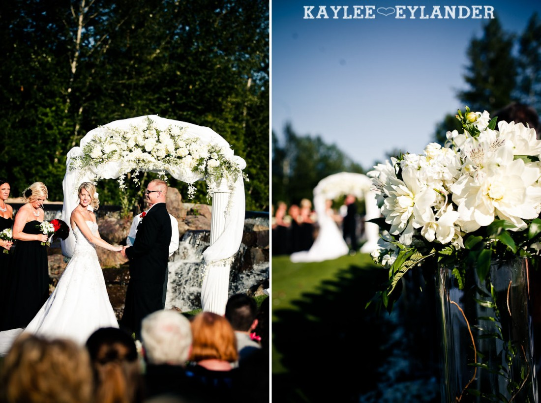 Echo Falls Wedding Ceremony 400 1100x820 Echo Falls Golf Course Wedding | Snohomish Wedding Photographers