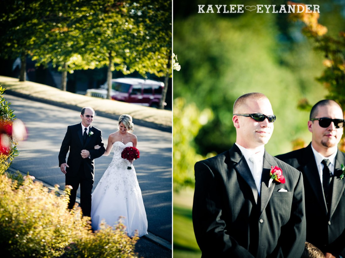 Echo Falls Wedding Ceremony 430 1100x822 Echo Falls Golf Course Wedding | Snohomish Wedding Photographers