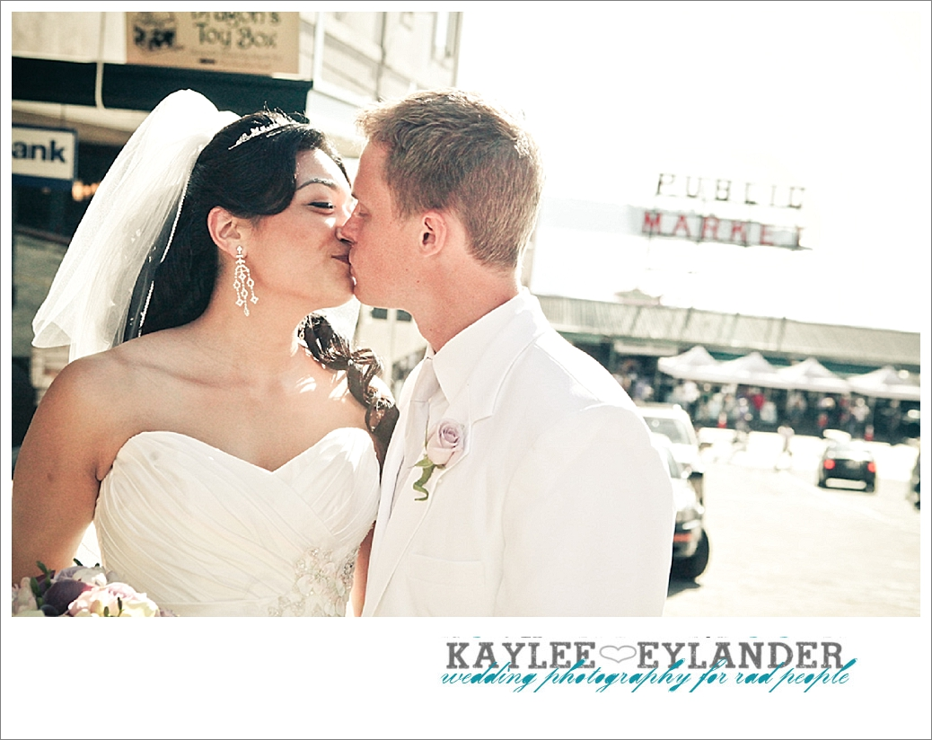 Pike Place Wedding Bride Groom 19 Pike Place First Look   Seattle Wedding Photographer   First Look