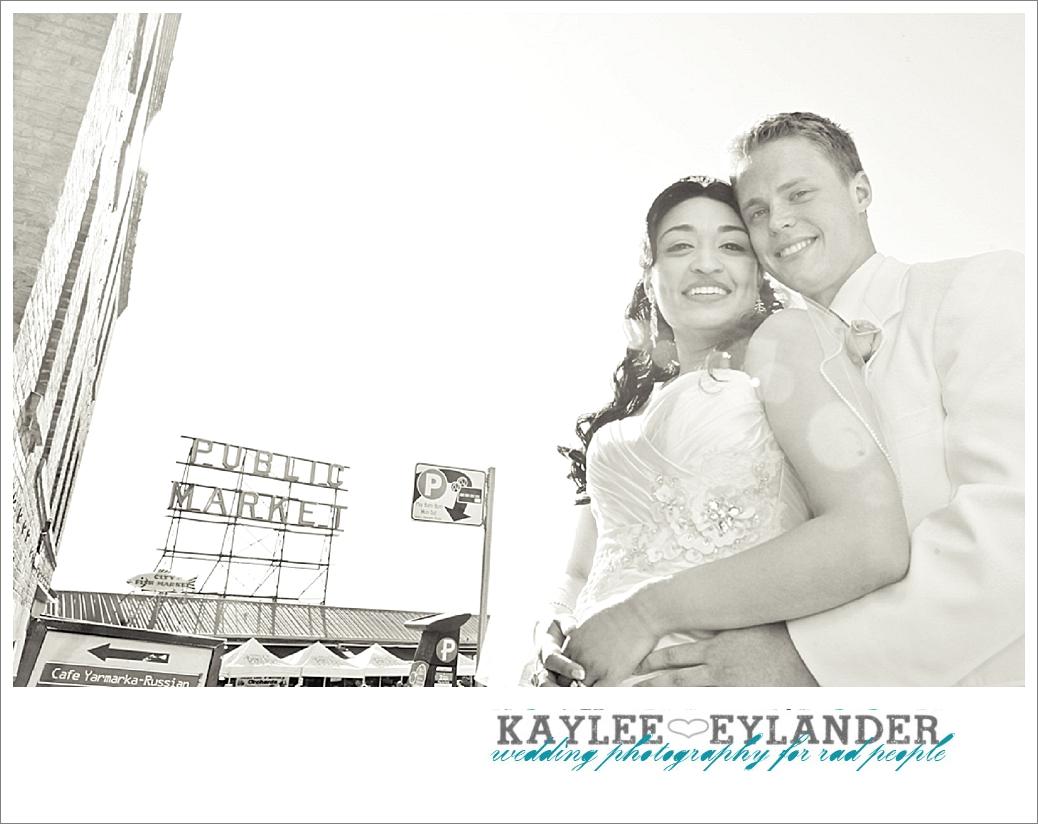 Pike Place Wedding Bride Groom 23 Pike Place First Look   Seattle Wedding Photographer   First Look