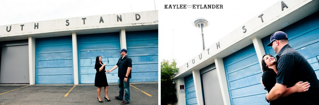 Seattle Space Needle Engagement Photographer 1 1100x363 Seahawks & Seattle Space Needle Engagement Session |  Century Link Field Session