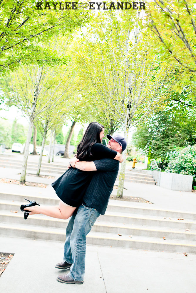 Seattle Space Needle Engagement Photographer 14 Seahawks & Seattle Space Needle Engagement Session    Century Link Field Session