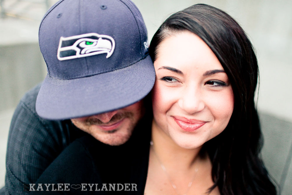 Seattle Space Needle Engagement Photographer 15 Seahawks & Seattle Space Needle Engagement Session    Century Link Field Session
