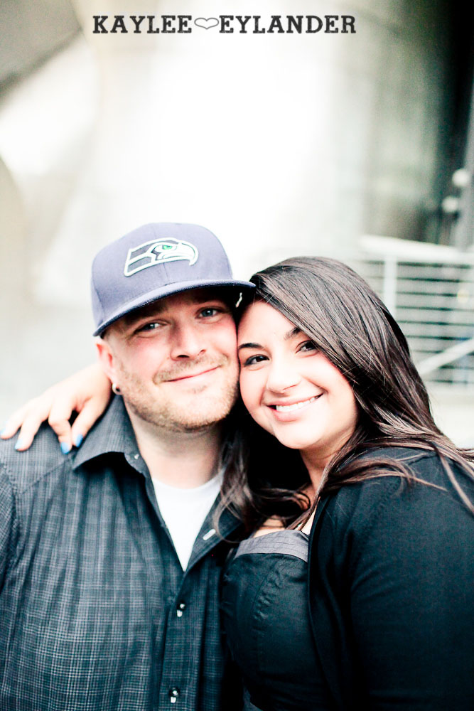 Seattle Space Needle Engagement Photographer 19 Seahawks & Seattle Space Needle Engagement Session |  Century Link Field Session