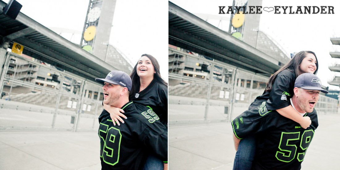 Seattle Space Needle Engagement Photographer 25 1100x550 Seahawks & Seattle Space Needle Engagement Session |  Century Link Field Session