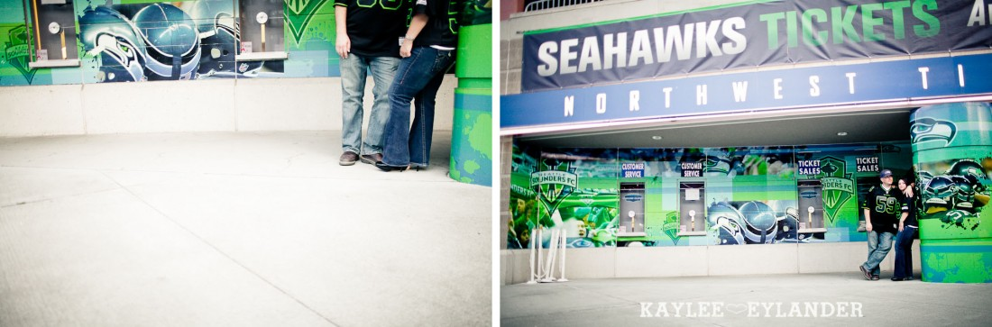 Seattle Space Needle Engagement Photographer 30 1100x363 Seahawks & Seattle Space Needle Engagement Session |  Century Link Field Session