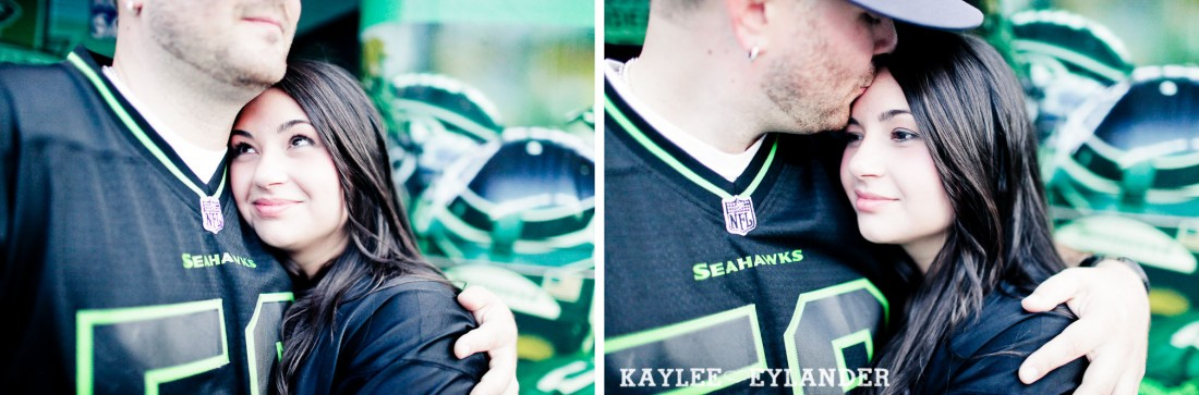 Seattle Space Needle Engagement Photographer 34 1100x363 Seahawks & Seattle Space Needle Engagement Session |  Century Link Field Session